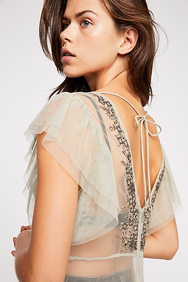 Slide View 5: Annabelle Embroidered Maxi Slip