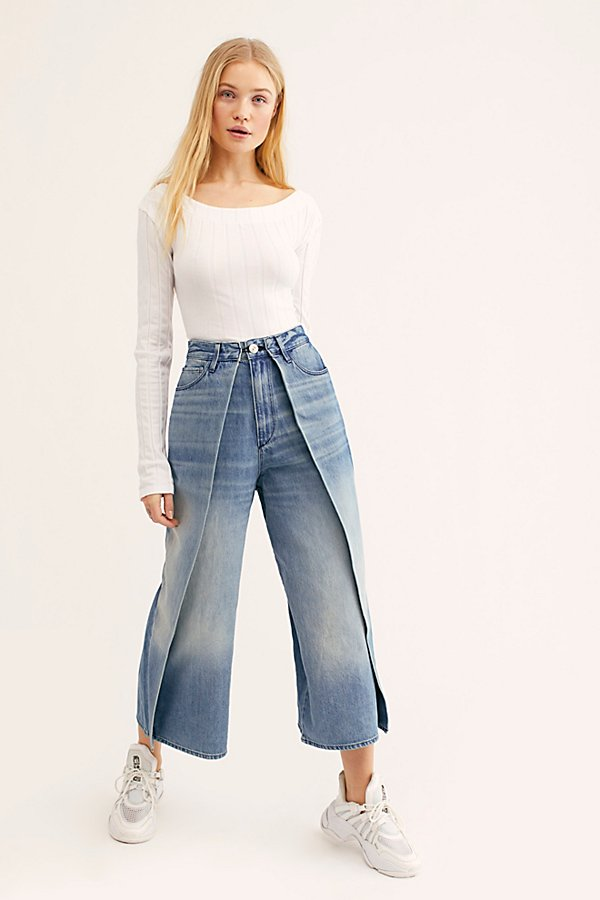 Slide View 1: 3x1 Porter Wide-Leg Jeans