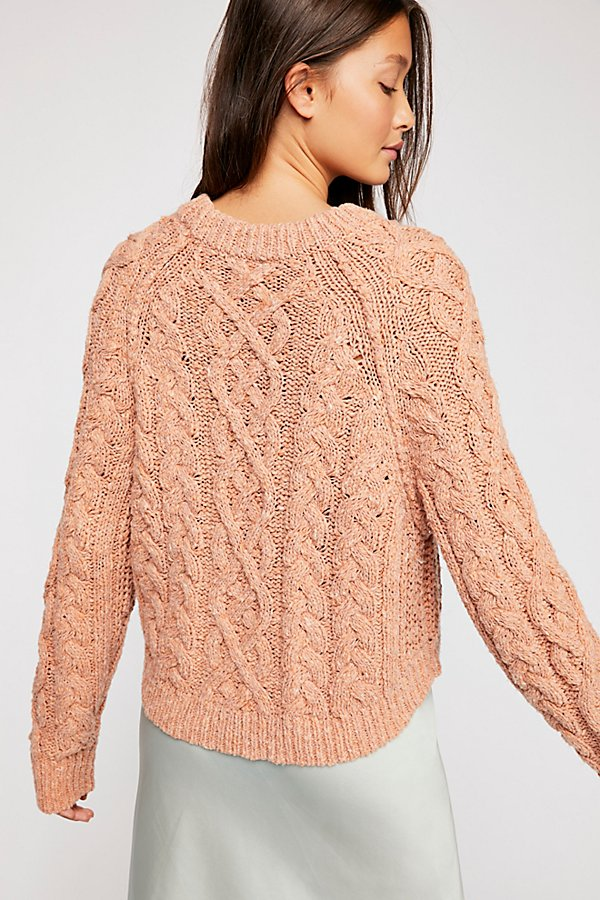 Slide View 3: Aran Isle Cable Crew Pullover Jumper