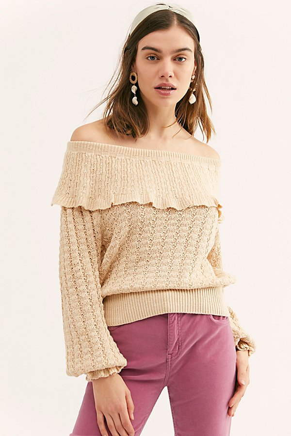 Slide View 1: Crazy In Love Ruffle Sweater