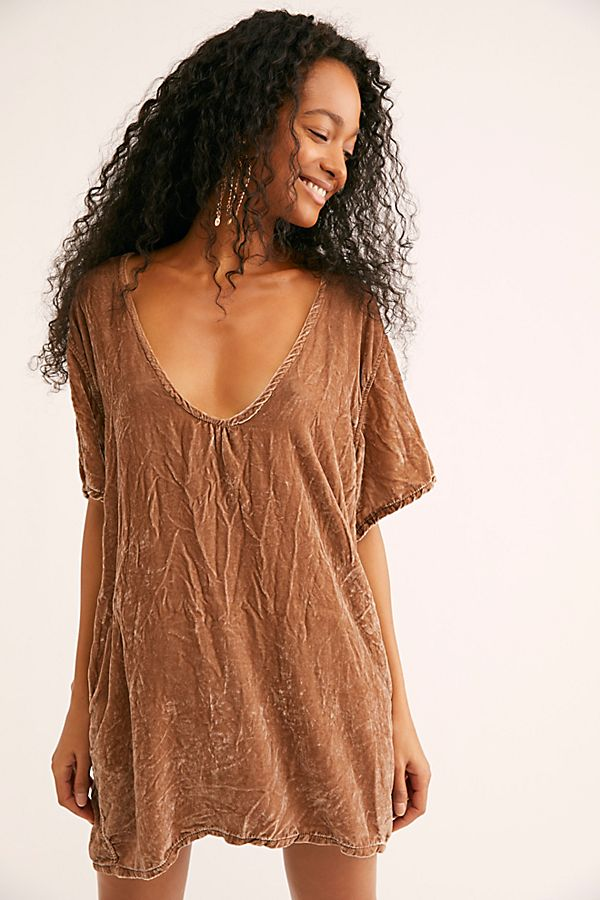 4ebfd88ed0 Crushed Velvet T-Shirt Dress