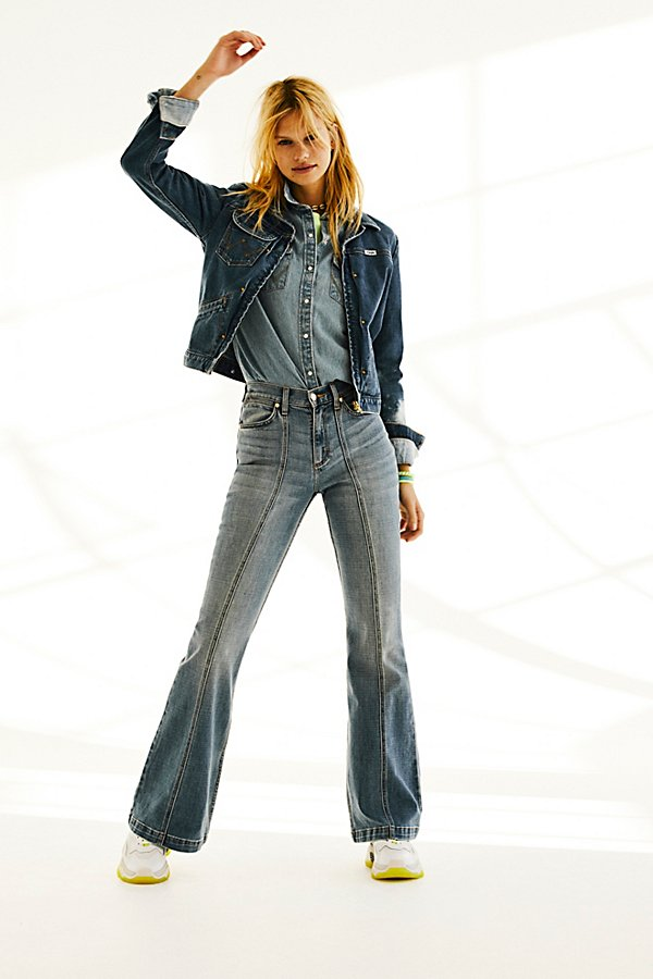 Slide View 4: Wrangler Seamed Flare Jeans