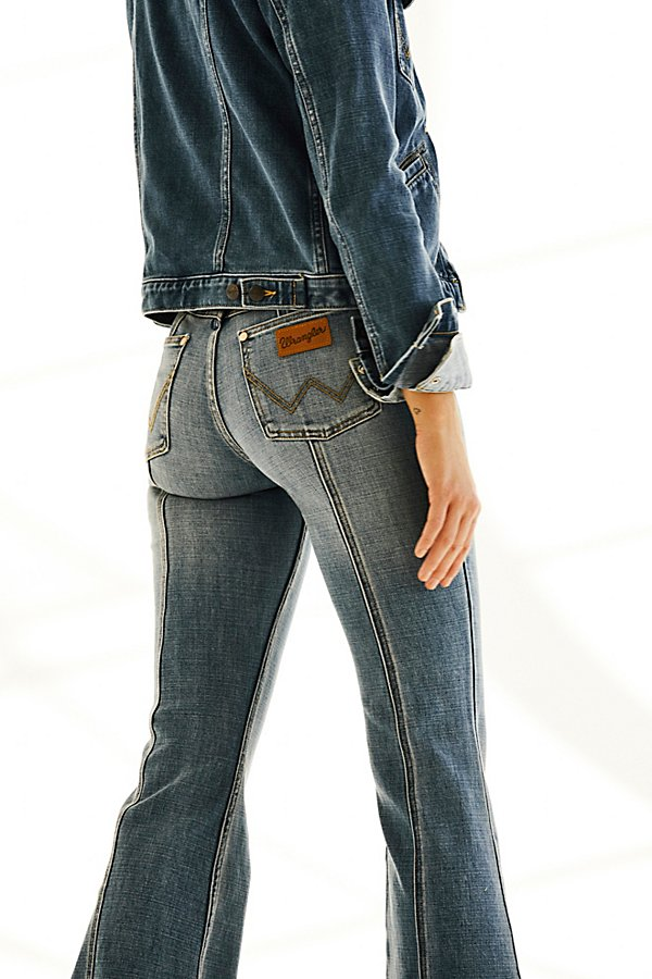 Slide View 5: Wrangler Seamed Flare Jeans