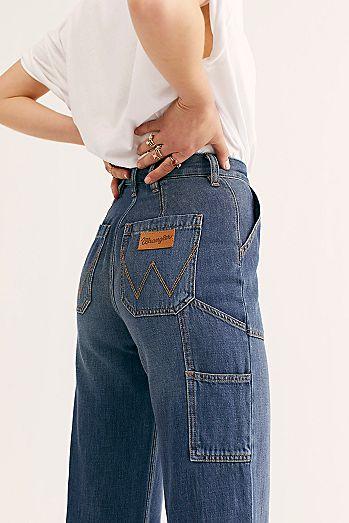 ce7bce9b890 Wrangler Womens High Rise Jeans   High Waisted Jeans