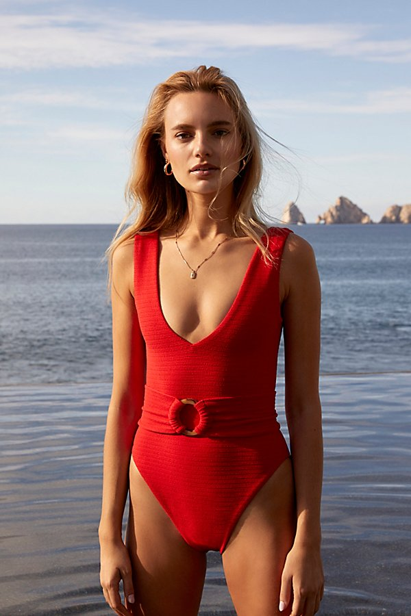 Slide View 1: Kim One-Piece Swimsuit with Belt