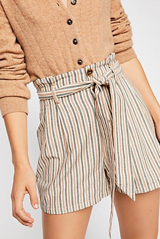 Stripe Paperbag Shorts by Free People