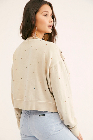 Embellished Cool Rider Pullover by Free People