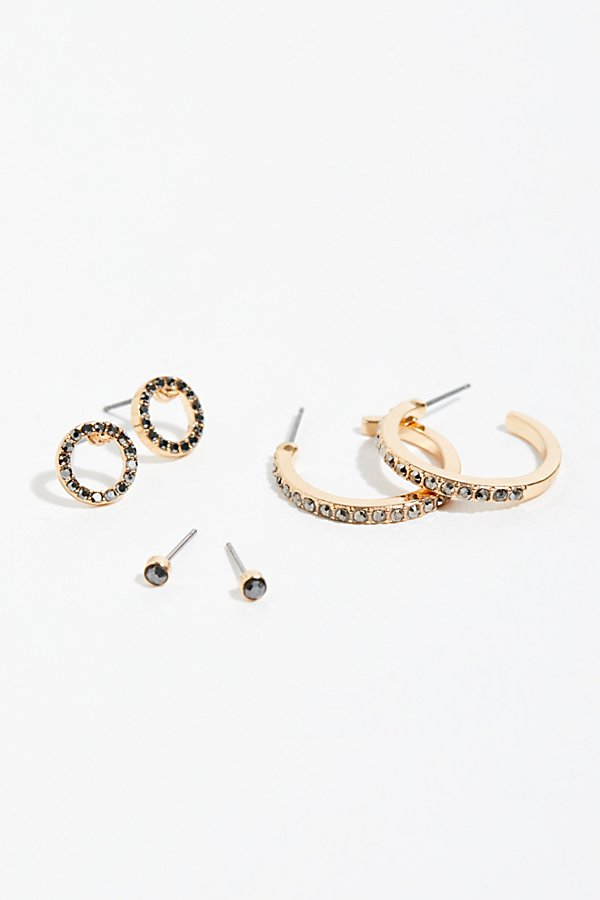 Slide View 3: Everyday Rhinestone Hoop Set