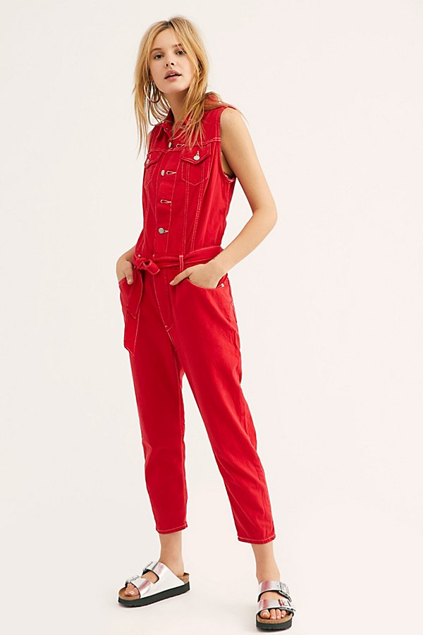 Slide View 1: Levi's Cropped Taper Jumpsuit