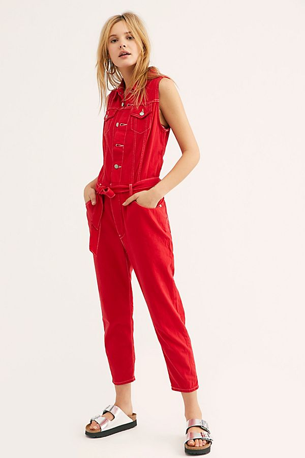 0c8c2e0e8a Slide View 1  Levi s Cropped Taper Jumpsuit
