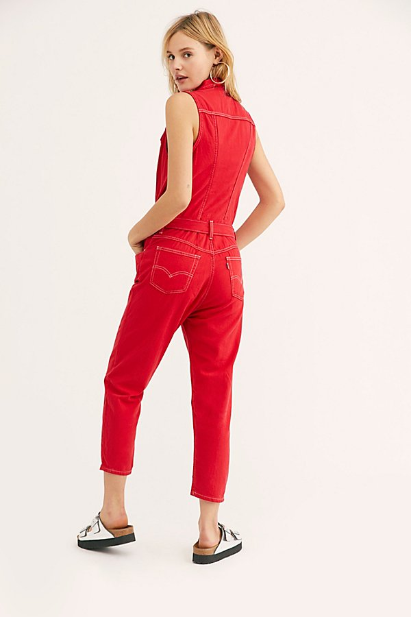 Slide View 2: Levi's Cropped Taper Jumpsuit