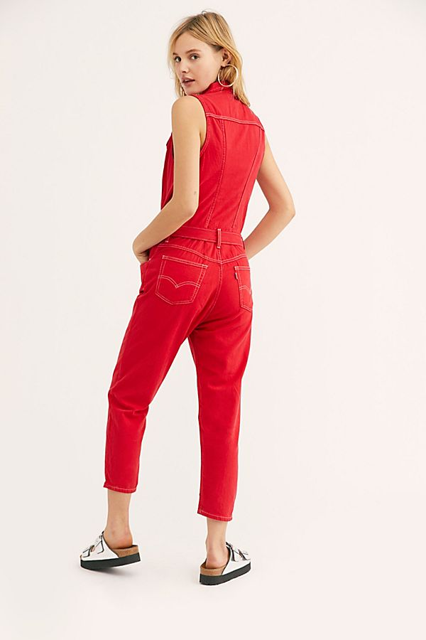 652f952f29 Slide View 2  Levi s Cropped Taper Jumpsuit