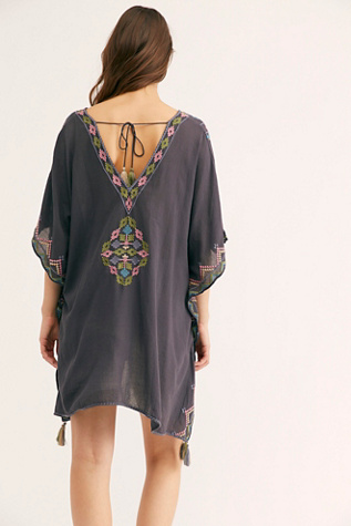 Inari Embroidered Short Kaftan by Star Mela