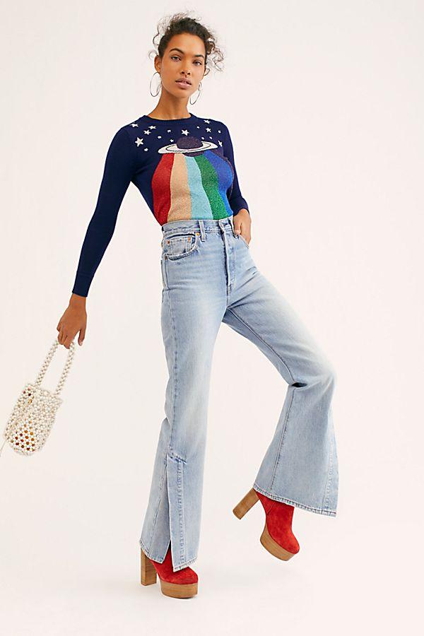 38564b75f4d600 Slide View 1: Levi's Ribcage Split Flare Jeans