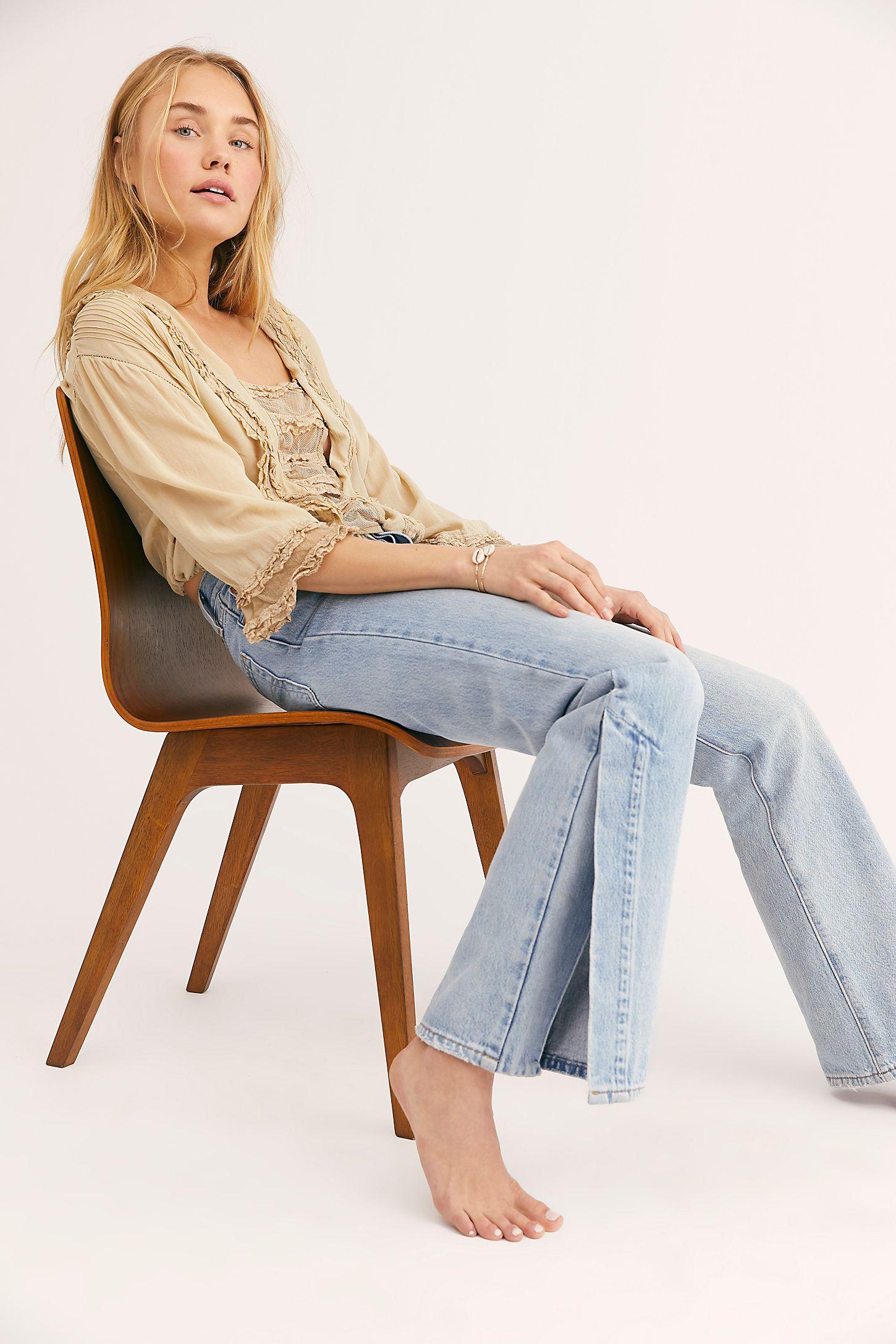 f4a6d8c542ebc0 Slide View 5: Levi's Ribcage Split Flare Jeans