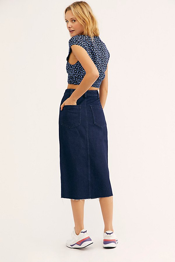 Slide View 2: We The Free Wilshire Denim Skirt