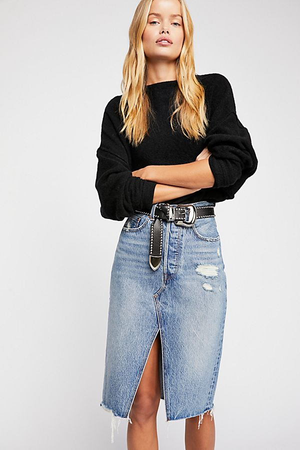 d18cc0a79 Levi's Deconstructed Long Skirt | Free People