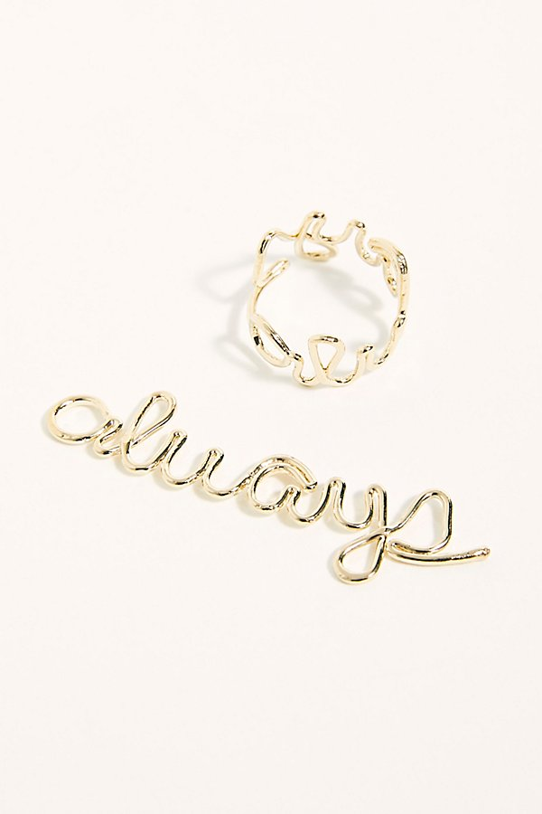 Slide View 1: Delicate Word Ring