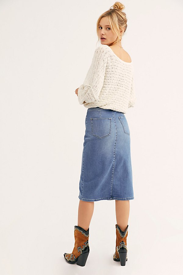 Slide View 2: Maddie Denim Midi Skirt