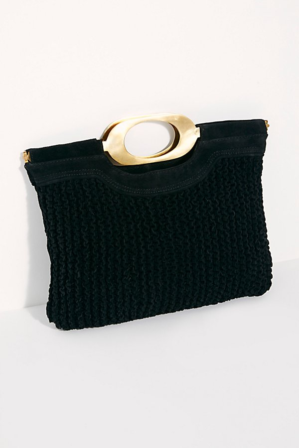 Slide View 2: Suede Woven Clutch