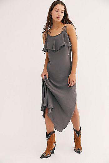 ea6aff1f1829e Grey - Long Slips | Maxi & Floor Length Slip Dresses | Free People