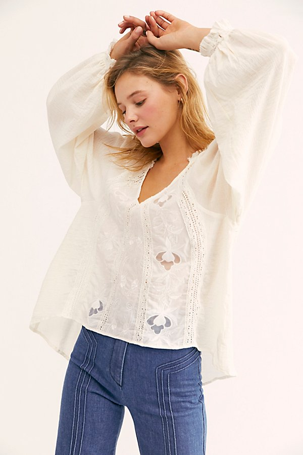 Slide View 1: Sivan Embroidered Blouse