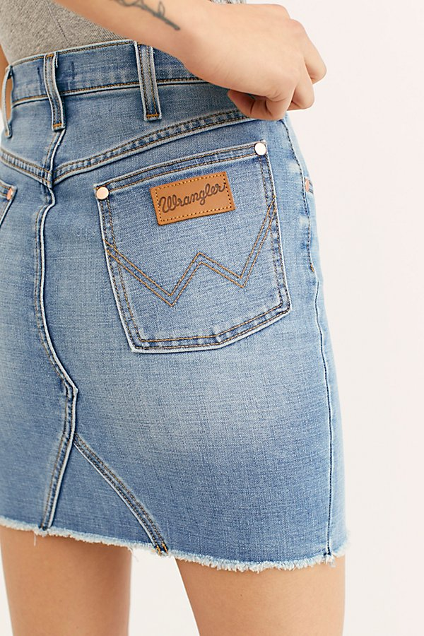 Slide View 3: Wrangler High-Rise Heritage Mini Skirt