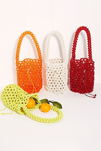 She's So Fun Beaded Bucket Bag