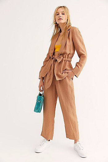 Drapey Textured Suit