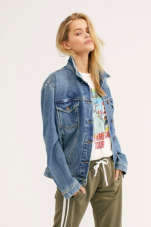Slide View 1: Ramona Denim Trucker Jacket