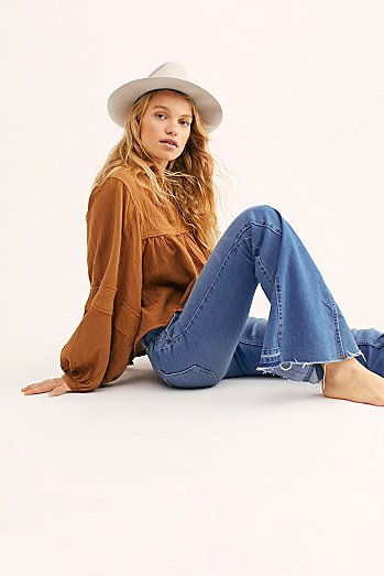 Palisades Low-Rise Bell Bottom Jeans