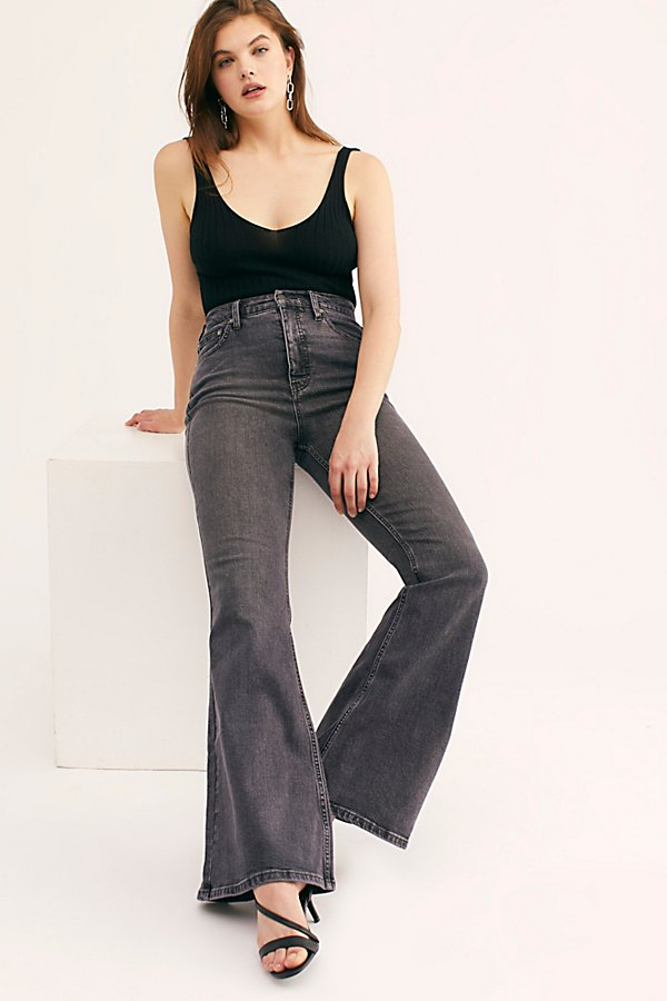 Slide View 1: CRVY Robin High-Rise Flare Jeans