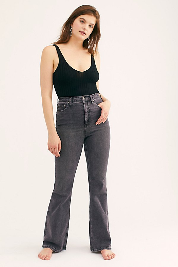 Slide View 2: CRVY Robin High-Rise Flare Jeans
