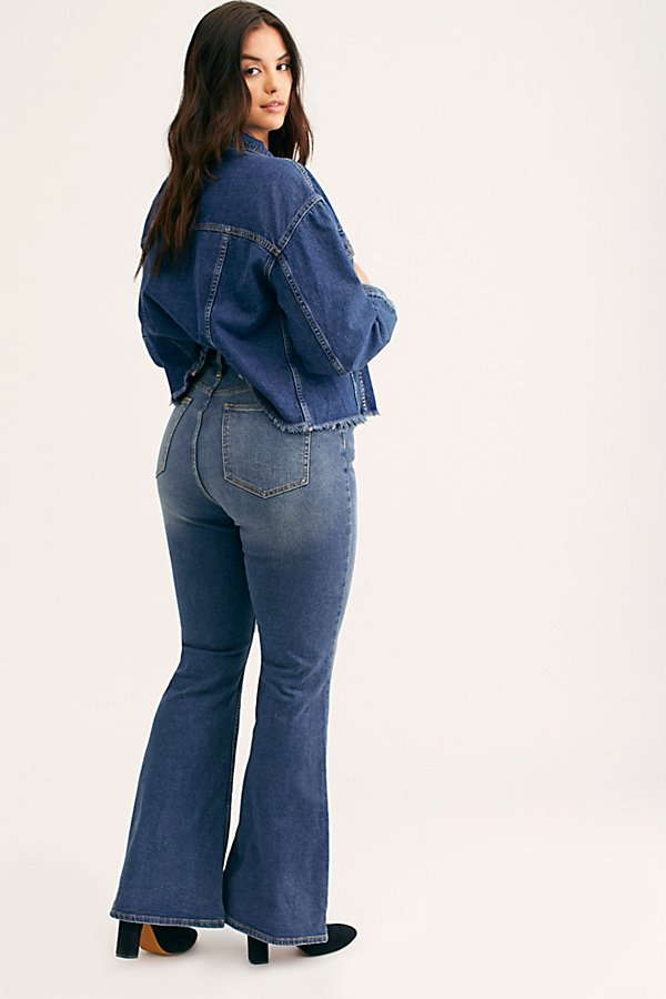 Slide View 3: CRVY Robin High-Rise Flare Jeans