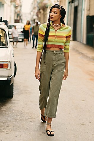 Saturday Sun Straight Leg Trousers by Free People