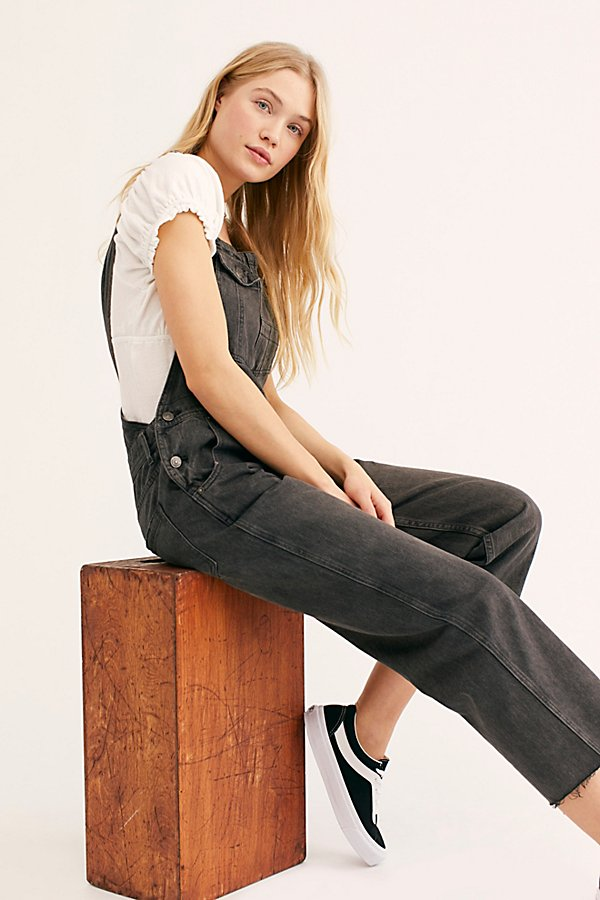 Slide View 5: Baggy Boyfriend Dungarees
