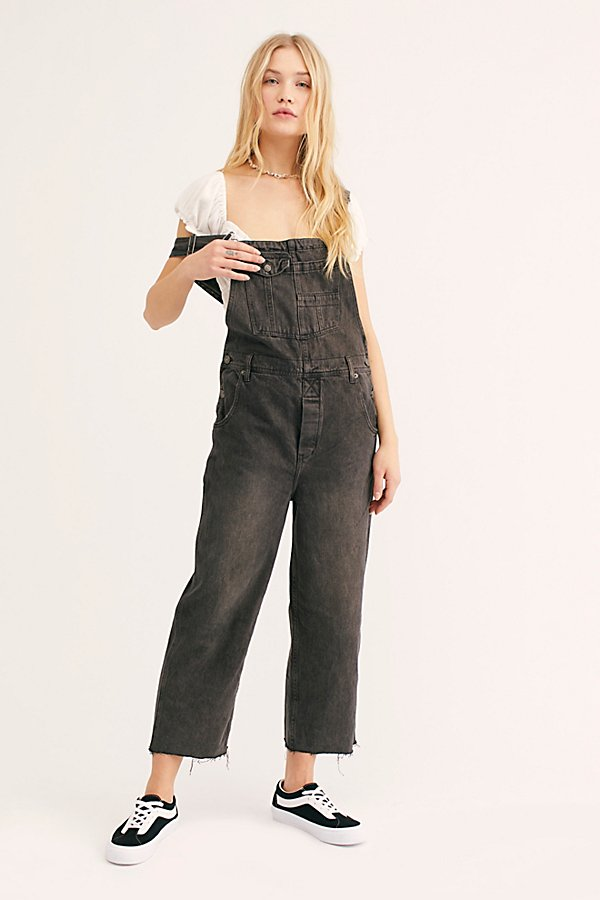 Slide View 1: Baggy Boyfriend Overalls