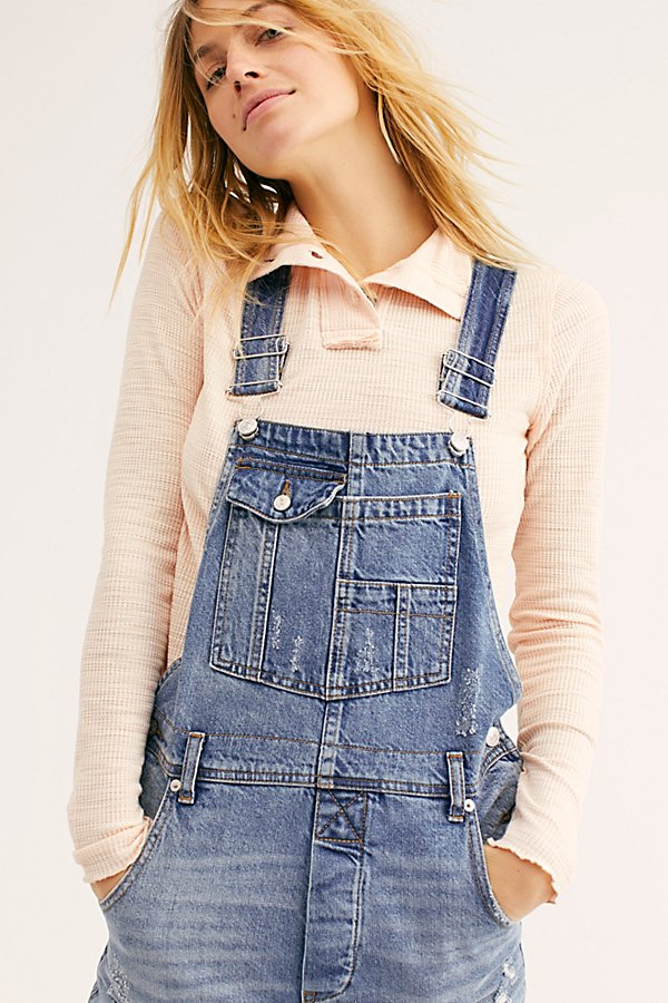 Slide View 4: Baggy Boyfriend Dungarees