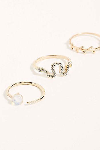 Lucky Charm Ring Set