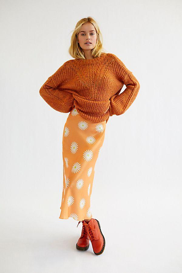 0453d303b9 Slide View 1: Kendall Satin Midi Skirt