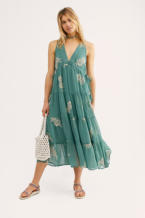 cb72f9cfde0 Slide View 1  Run Away With Me Embroidered Midi Dress