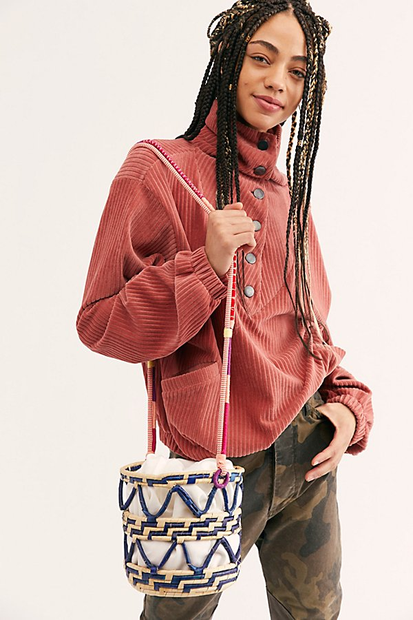 Slide View 2: Nannacay Laelia Mixed Straw Bucket Bag