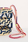Thumbnail View 4: Nannacay Laelia Mixed Straw Bucket Bag
