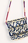 Thumbnail View 5: Nannacay Laelia Mixed Straw Bucket Bag