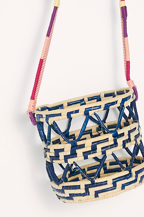Slide View 5: Nannacay Laelia Mixed Straw Bucket Bag