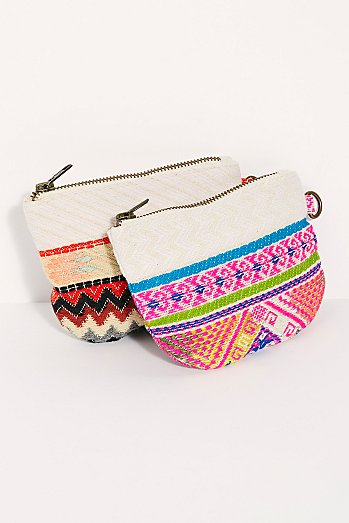 Serape Canvas Coin Pouch