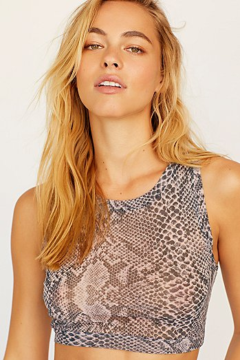 Python Tulle Cropped Tank