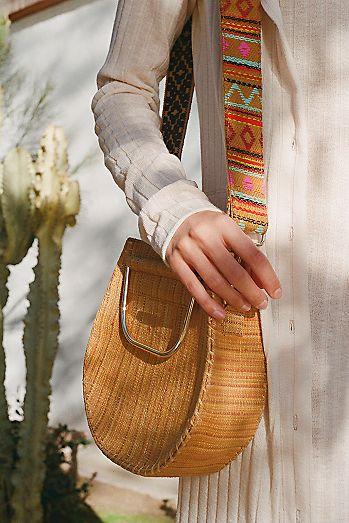 0f3e7711a2d3 Melrose Straw Crossbody Bag