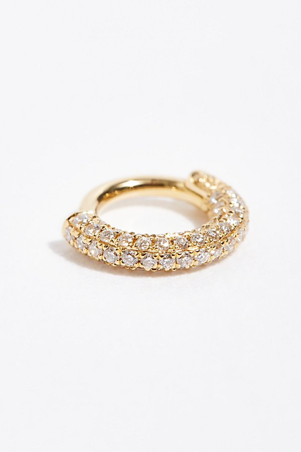 Slide View 1: 5mm Diamond Five Row Pave Single Earring