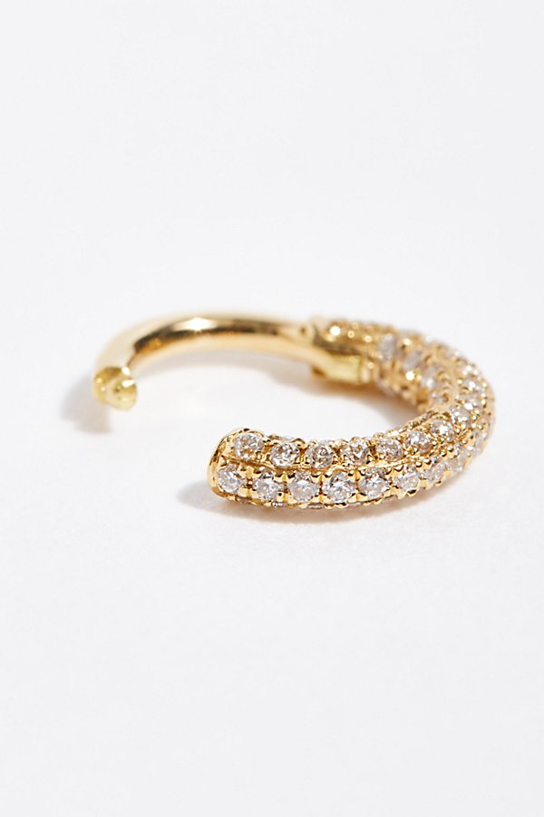 Slide View 2: 5mm Diamond Five Row Pave Single Earring